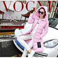 M-3XL Fashion Girl Ladies Cotton Hooded Winter Slim Long Jacket Outerwear Parka Women Female Thick Warm Parkas Jacket A-16