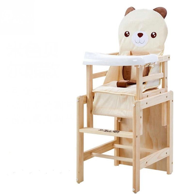 Pin massif Bois Bébé À Manger Chaise Haute, réglable Pliant Portable Chaise Pour Bébé Dans Les 6 Ans