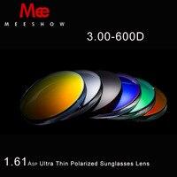ÍNDICE de 1.61 lentes de Resina Miopía gafas de Sol polarizadas Lentes de Espejo Colorido de la Lente Para la lente a medida, Lentes de gafas de sol con el grado