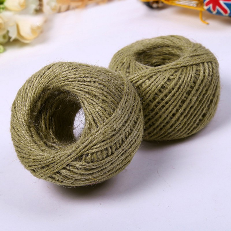 Cats Toys Sisal Binding Rope Scratching Post Making Desk Foot Stool Chair Legs Material Sharpen Claw Toy 50m #5