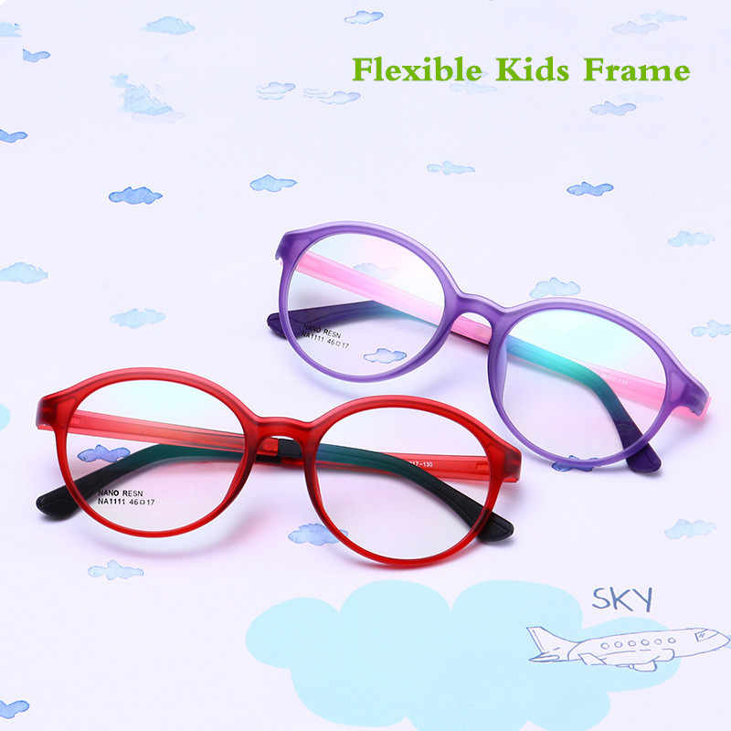 TR90 Silicone Flexible Kids Eyeglasses Frames Boy Girl Cute Optical Myopia Clear Brand Children Glasses Frame Matte Spectacle