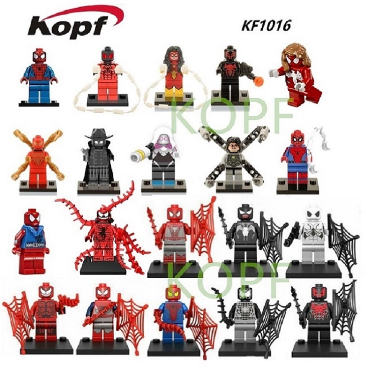 Single Sale Super Heroes Spiderman Figures Spider-Man Assemble Bricks Building Blocks Education Toys for children KF1016 xh 287 super heroes avengers single sale antman building blocks assemble blocks bricks model children bricks toys