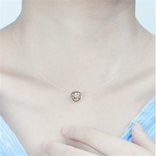 Ahmed Simple Transparent Thin Lines Rhinestone Pendant Tattoo Choker Necklace For Women Charm Fashion Collar Bijoux Jewelry