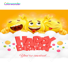 Colorwonder Smile Backdrop For Photography 7x5ft Red Happy Birthday Banner Kids