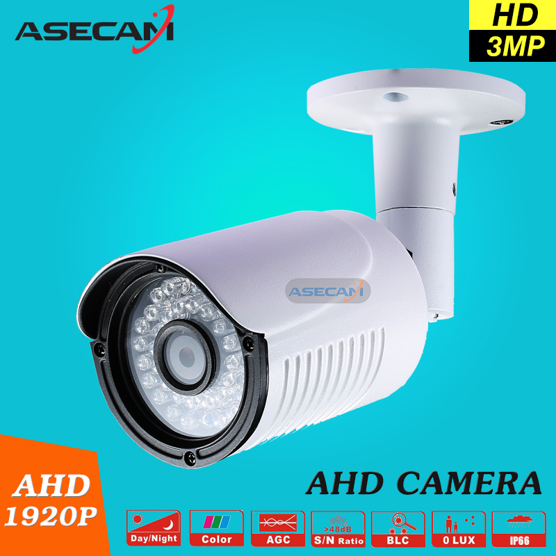New Product 3MP HD Full 1920P Security Camera  White Metal Bullet CCTV AHD Surveillance Waterproof 36 infrared Night Vision new cctv ahd hd 960p surveillance waterproof outdoor metal bullet security camera infrared night vision 50meter