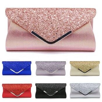 Fashion Lady Women Glitter Clutch Wallet Long Evening Wedding Prom Purse Handbag