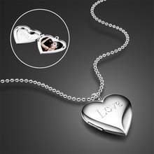 Custom-made Photo-paste Photo  Valentine's Day Gift Loving Lvoe Necklace 925 Silver Heart Pendant цена 2017