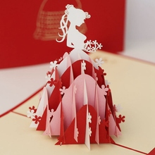 1 шт. трехмерная поздравительная открытка для невесты, поздравительная открытка с 3D бумагой, резная открытка принцессы, пустая открытка поздравительная открытка