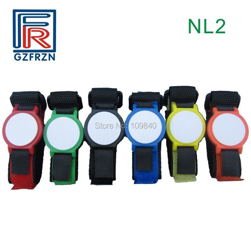 1000pcs Customized Logo printing 125khz RFID Nylon wristband /bracelet NL2 survival nylon bracelet brown