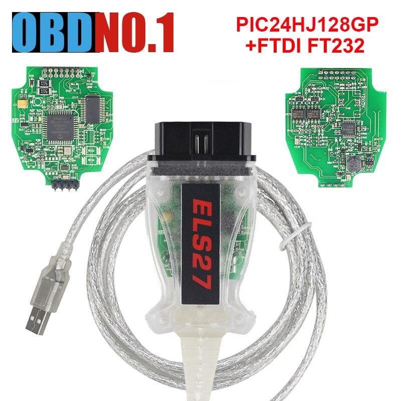 ELS27 FORScan PIC24HJ128GP + FTDI Microchip ForFord forMazda forMercury diseñado trabajo ELM327 y J2534 los 27 V2.2.6C
