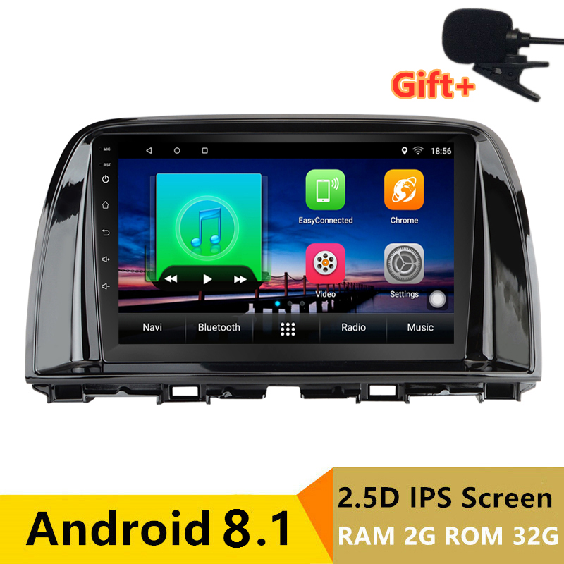 "9"" 2+32G 2.5D IPS Android 8.1 Car DVD Multimedia Player GPS for Mazda CX-5 CX5 2012 2013 2014 2015 audio car radio navigation"