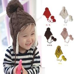 Baby boy girl winter warm hats korean super cute fashion plus velvet double twist of heavy.jpg 250x250