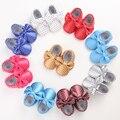 Venta caliente 9 Colores Marca de Primavera Zapatos de Bebé Recién Nacido Niños Niñas Zapatos de Cuero de LA PU Primeros Caminante Del Bebé Mocasines 0-18 Meses