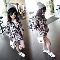 High Quality Fashion Girls Clothing Sets Lady Style Sweatshirt Shorts 2pcs Autumn Winter Baby Girls Clothes