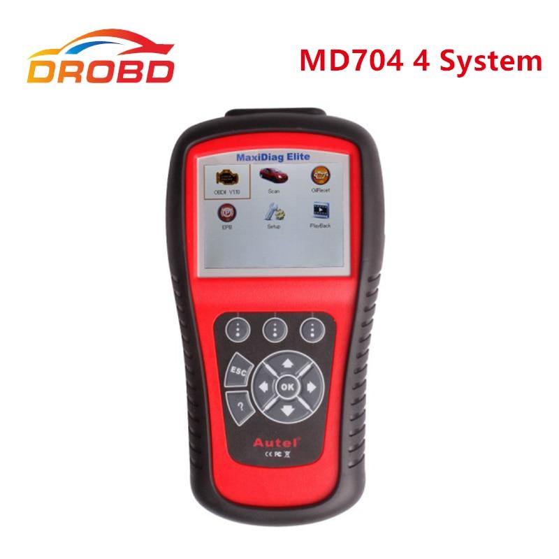 Цена за Новый Оригинальный Autel Maxidiag Elite MD704 С DS Модели Европейских Автомобилей Диагностический Инструмент Для 4 System Update Online