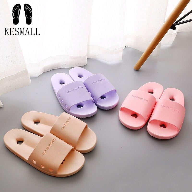 Kesmallwomen Slippers Massage Sole Shoes Flip Flops Sandals Flat Fashion Bathroom Slipper