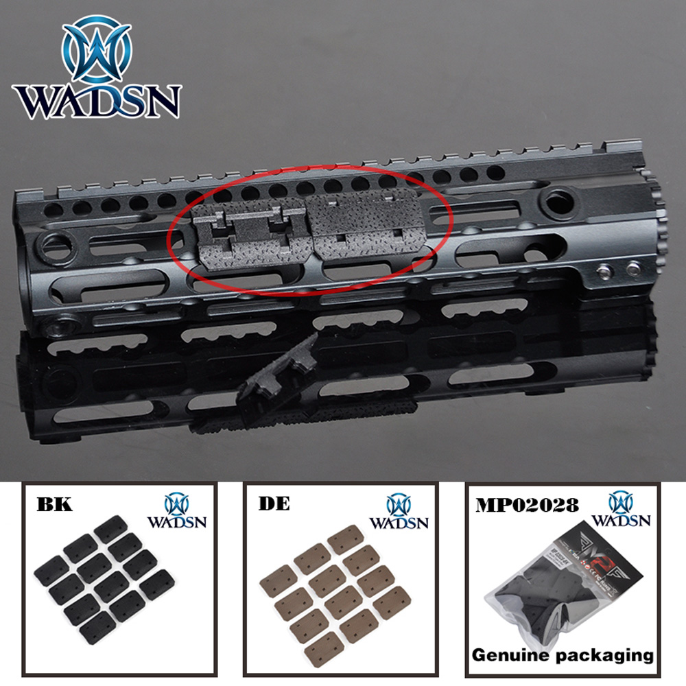 WADSN 12PCS Tactical Mlok Type 2 Rail Covers EMag Pul Type For M-lok SLOT System Rail Panel For Outdoor Hunting Wargame Acessory