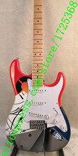 Роскошная серия Clapton Crash Rainbow Crashocaster над радужной электрогитарой