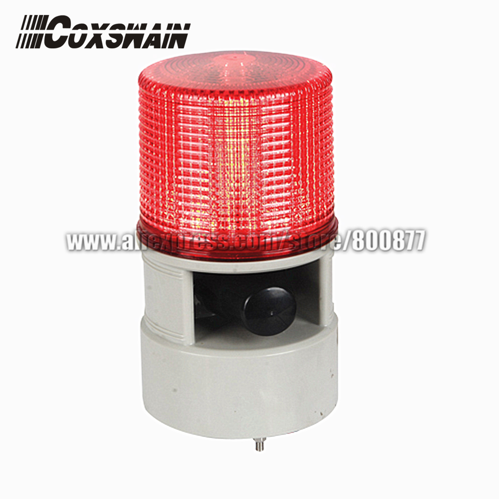 LED Alarm Beacon Light With 20W Siren Speaker, DC12/24V, AC220V, 4 Flash Patterns, 7 Sounds, Watherproof, PC Lens (TBD-S125DL)