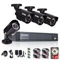 ZOSI 4CH Системы ВИДЕОНАБЛЮДЕНИЯ 4CH 720 P DVR 4 ШТ. 1.0MP ИК Всепогодный Открытый CCTV Камеры 1280TVL Системы Домашней Безопасности Комплекты видеонаблюдения