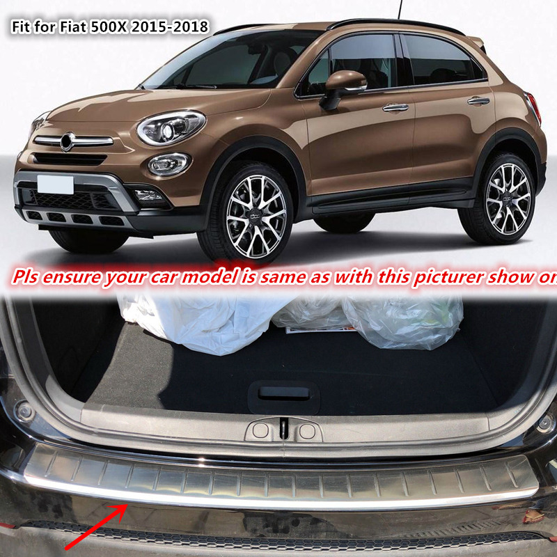 for fiat 500x 2015 2016 2017 2018 stainless steel car styling