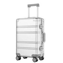 "CARRYLOVE 20 ""24"" بوصة سبينر تحمل على السفر حقيبة الألومنيوم المقصورة عربة المتداول الأمتعة على عجلة"