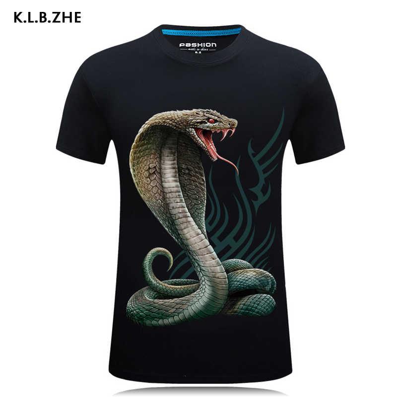 KLBZHE футболки с 3D-принтом 2018 футболка Homme Летние повседневные мужские футболки с короткими рукавами мужские футболки Camiseta одежда в стиле хип-хоп