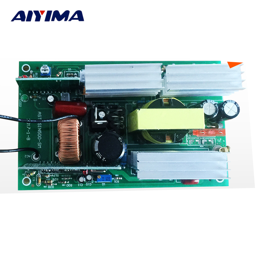 Aiyima 1Pc Invertor Pure Sine Wave Inverter Circuit 12V To 220V 500W Driver Board цена