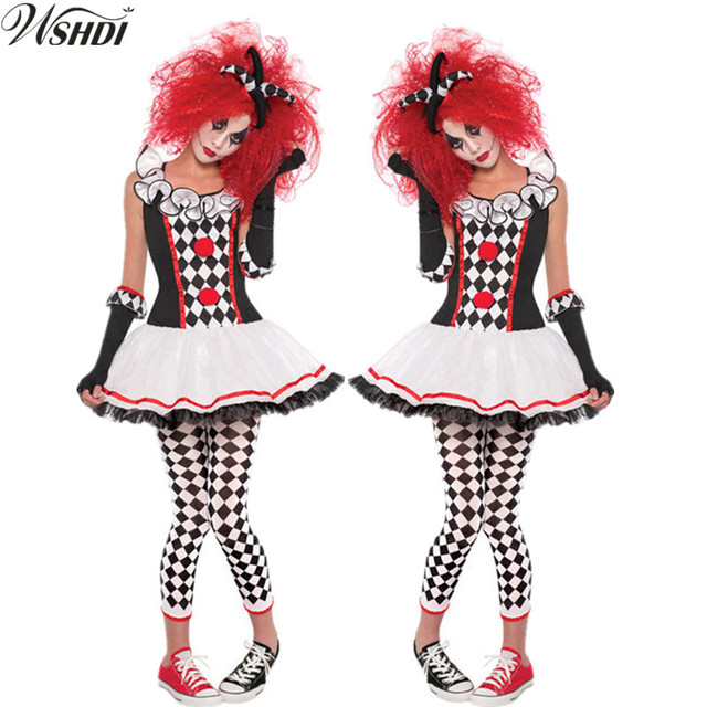 S Xxl Lustige Harley Quinn Kostüm Frauen Erwachsene Clown Circus