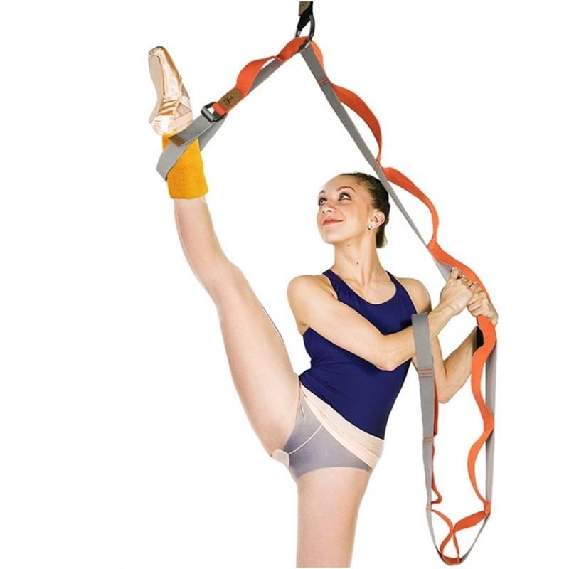 Nueva puerta ajustable pierna banda Yoga banda de tensión cinturón tramo algodón Yoga multifuncional cinturón ligamento estiramiento