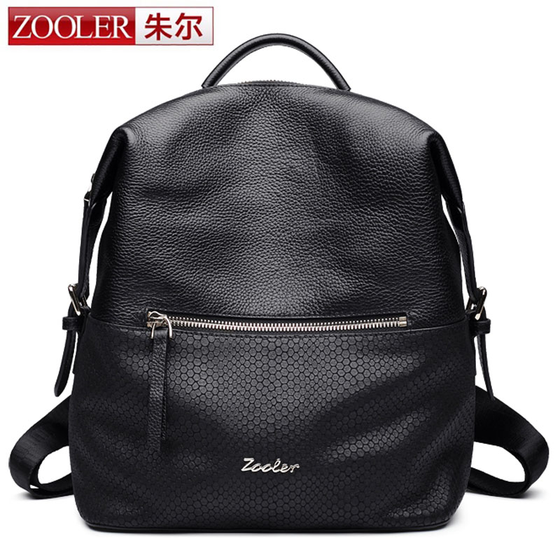 ZOOLER Black Backpack Women Backpack Real Leather School Bags For Girls Travel Shoulder Bag Female High Quality Daily Daypacks велосипед author outset 2016