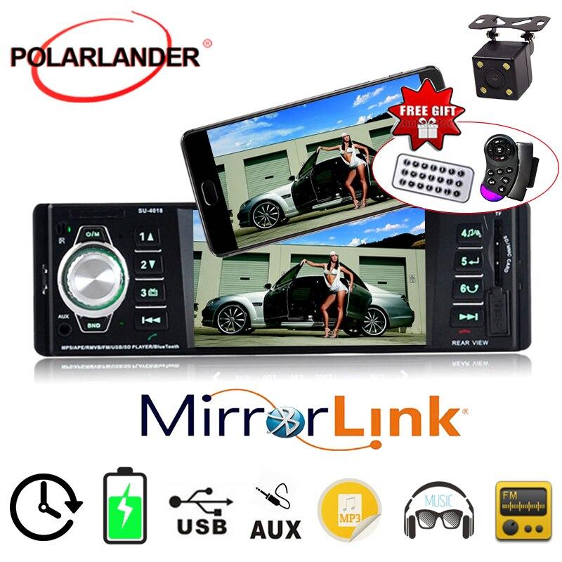 1 din Bluetooth car radio MP4 MP5 MP3 radio cassette player audio 4.1 inch TFT screen video USB SD AUX IN FM stereo Autoradio|car radio|sd aux|bluetooth car radio - title=