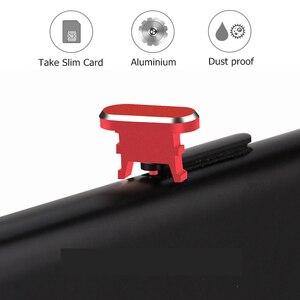 Металлический алюминиевый 2 в 1 пылезащитный Разъем + лоток для Sim-карты, Pin, мобильный телефон, зарядное устройство, разъем для iPhone X, XR, XS Max, 8, 7 ...