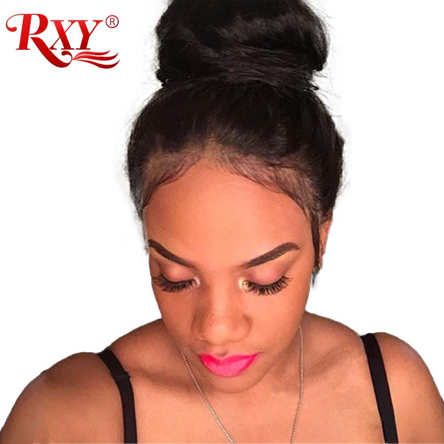 """RXY Glueless Lace Front Human Hair Wigs With Baby Hair 8""""-24"""" Body Wave Wig Brazilian Hair Wigs For Black Women Non-Remy Hair"""