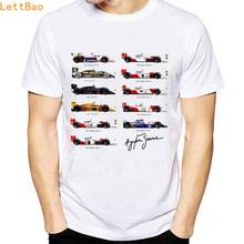 Alle F1 Ayrton Senna sennacars t-shirt mannen Cars Fans mannelijke vogue t-shirt Slim Fit wit fitness Casual Tops retro tee shirt homme(China)