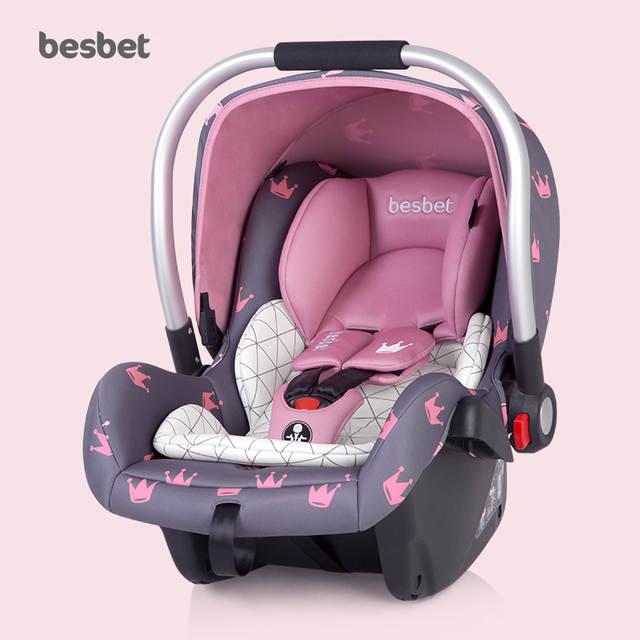 prix compétitif 5c592 7e959 Besbet Baby Basket Safety Seat Newborn Car Portable Baby Cradle Sleeping  Basket