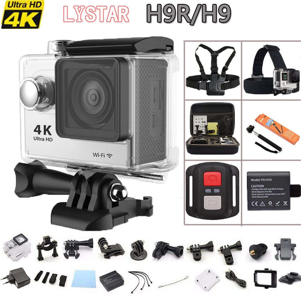 H9R / H9 12MP Ultra HD 4K 25fps Wifi Extreme Sports Camera Waterproof Diving Camera 170D Lens Action Cam 2.0 LCD Mini Sport DV