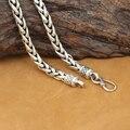 6 мм настоящее серебряное ожерелье 925 таиланд серебряный дизайнер старинные Neckace человек ожерелье