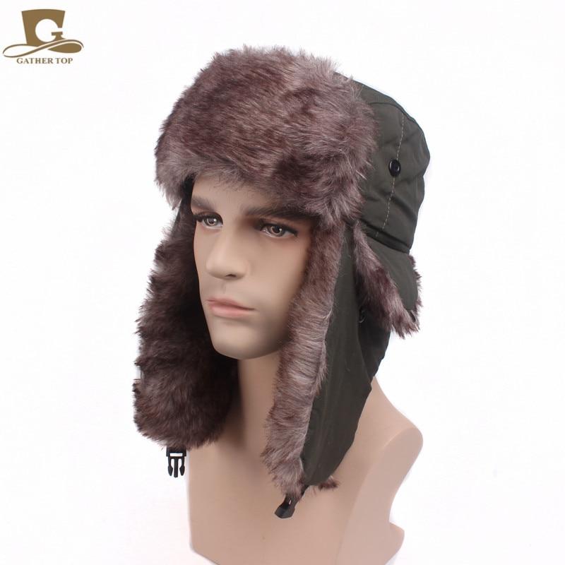 New Unisex Winter Faux Fur Earflap Warm Men Women Trapper Aviator Trooper Cap Russian Ski Hat