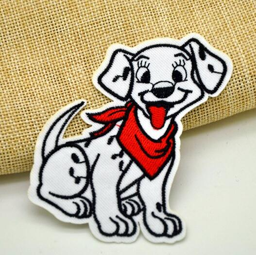 DISNEY 101 DALMATIANS GIRL  PUPPY DOG  EMBROIDERED APPLIQUÉ PATCH SEW IRON ON