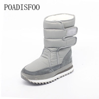 2017 Christmas Gifts Winter Women Mans Boots Snow Boots Shoes For Santa Claus White Snow Color