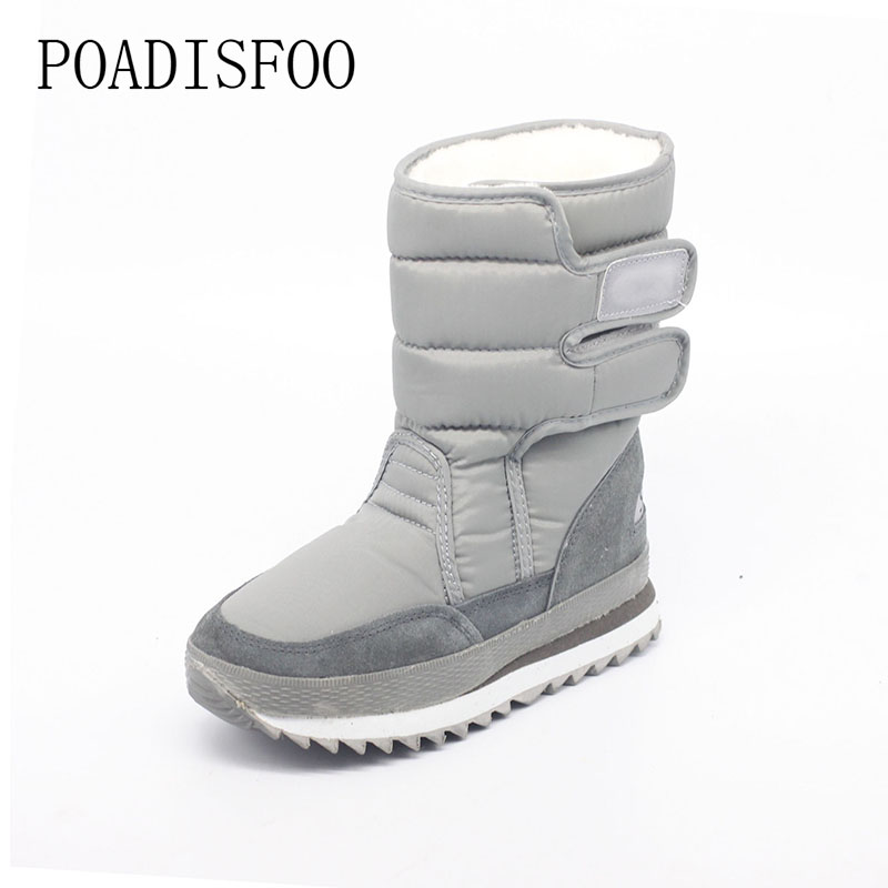 2017 Women Platform warm Winter Women Boots woman Snow Boots Santa Claus Plus Size Warm Slip