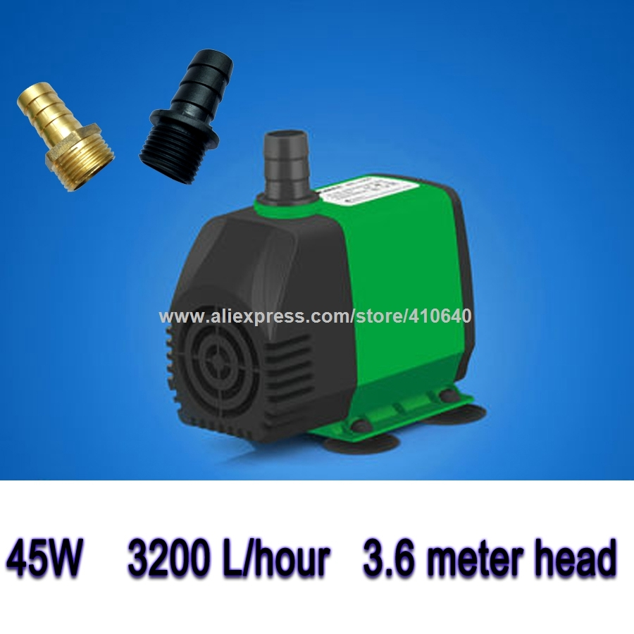 45W 3.6 m Head 3200 L Per Hour Submersible Pump for CNC Router Spindle Recycling Water Cooling Pump For CNC and Laser Machine cnc router pump 75w 3 2m engraving machine submersible pumps spindle cooling water pump ultra quiet