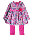2015 floral newborn baby clothing sets infant baby girls dress+legging pants 2 pcs/set roupas de bebe baby dress kids clothes