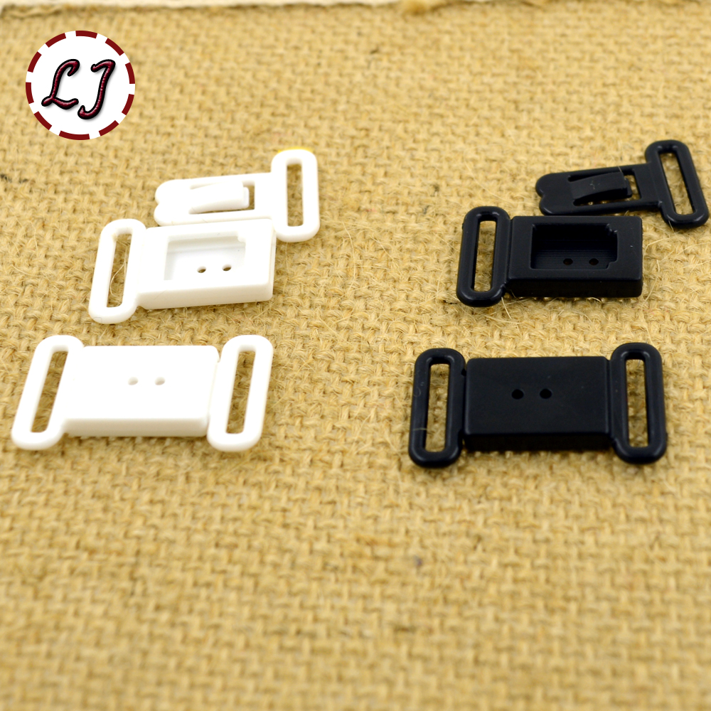 Small buckles for crafts - 10pcs Lot Small Craft Plastic White Black Rectangle Tape Closure Hook Clasp Waist Extenders