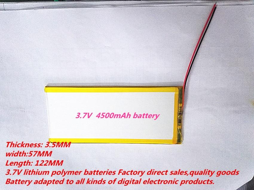 best battery brand  3557122 lithium polymer battery 3.7V with a Tablet PC V811 V801 Paul 4500mAh battery