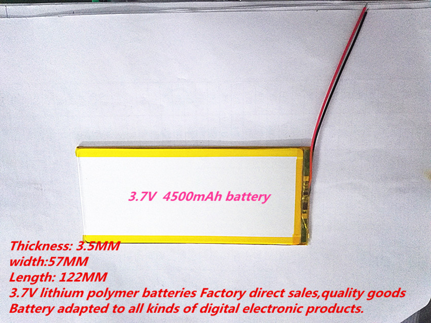 best battery brand 3557122 lithium polymer battery 3.7V with a Tablet PC V811 V801 Paul  ...
