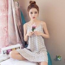 New Women Summer Sleep Dress Cotton