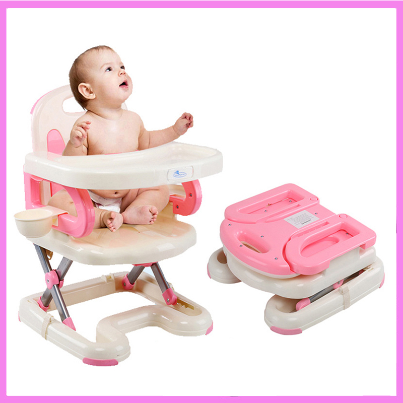 Baby Dining Highchair Portable Infant Baby Feeding Chair Folding Kids Table and Chair Child Eating Dinning Chair Safety Seat dining chair child baby the design concept of high landscape equipp with feeding bottle water cup holder infant playing chair