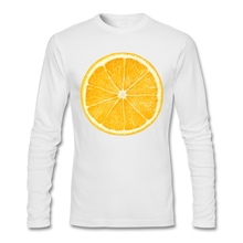 Orange love vegan longsleeve shirt